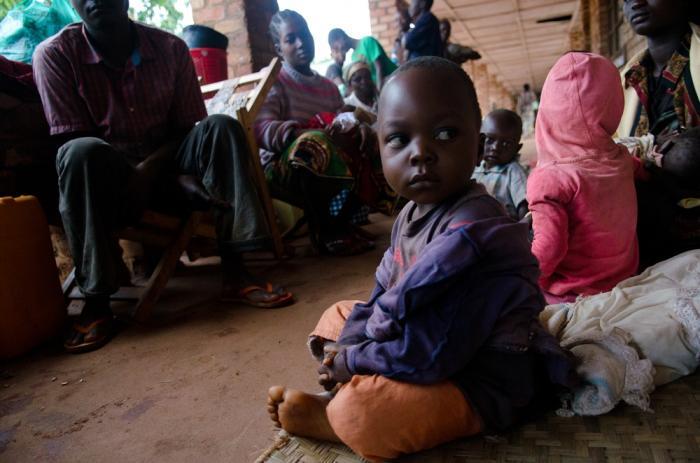 Pasient ved Pawa-sykehuset i DR Kongo