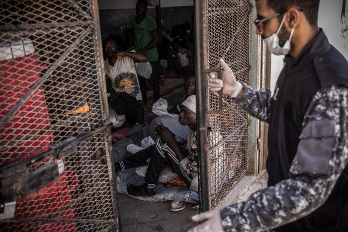 Abu Salim interneringssenter i Tripoli. Foto: Guillaume Binet/Myop